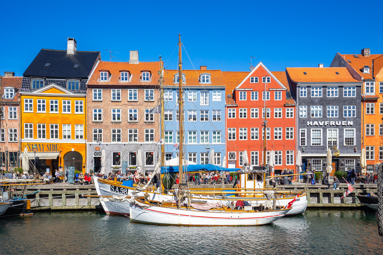 Colorful buildings of Nyhavn in Copenhagen city, Denmark