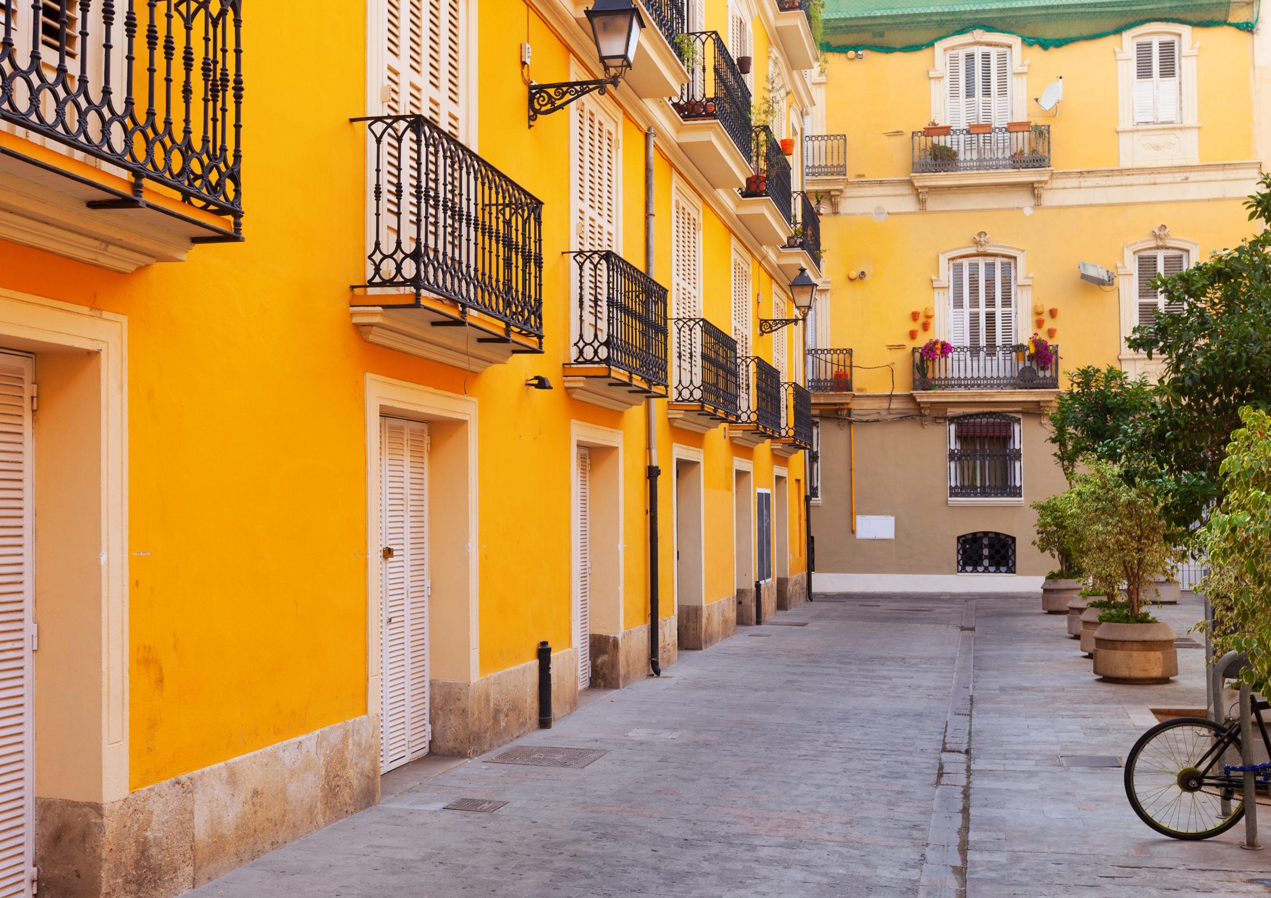 courtyard in spanish city. Valencia